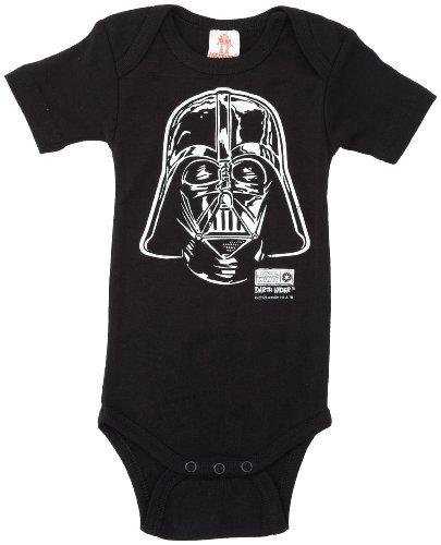 LOGOSHIRT - Star Wars Baby-Body Kurzarm Junge - Darth Vader - Krieg der Sterne Baby Strampler - schwarz - Lizenziertes Originaldesign, Größe 74/80, 7-12 Monate (Darth Vader Kostüme Authentisch)