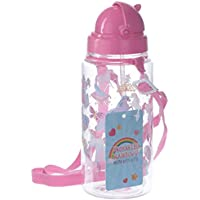 Puckator Enchanted Unicorn Rainbow Gourde avec Paille, Rose