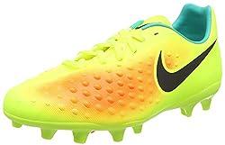 Nike Magista Opus Ii Fg, Unisex Kids' Footbal Shoes, Yellow (Voltblack-total Orange-clear Jade), 5.5 Uk (38.5 Eu)