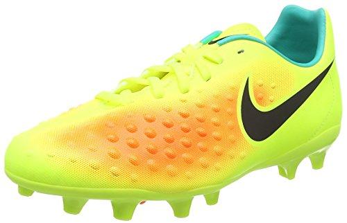 Nike Magista Opus II FG, Scarpe da Calcio Unisex – bambini, Giallo (Volt/Black-Total Orange-Clear Jade), 38 EU