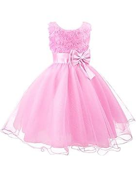 3D Blume Mädchen Kleid Kinder Kleider Prinzessin Festkleid Hochzeit Brautkleid Geburtstag Abendkleid Kommunionskleid...