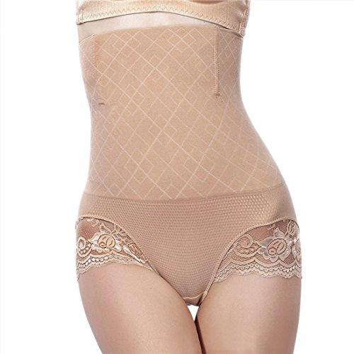 FascinateQueen Damen Figurformender Miederslip mit Bauch-weg-Effekt �?Beige