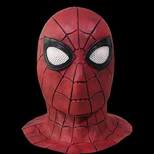 KYOKIM Spider-Man Maske Kind Erwachsener Halloween Mottoparty Schwarze Helm Cosplay Karneva Herren Held Vollen Kopf Deluxe Replik