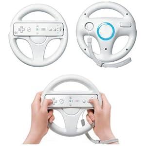 LS 3x Lenkrad Weiss Racing Wheel SET für Nintendo Wii MarioKart Wii U NEU weiss Lenkräder 3er Set für Wii