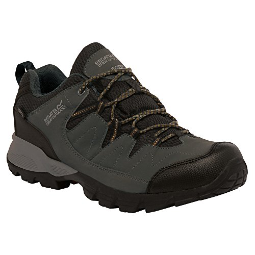 Regatta Holcombe, Chaussures de Randonnée Basses Homme noir-gris