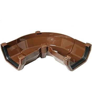 FLOPLAST 114mm Square Gutter Clip Brown Bag of 10