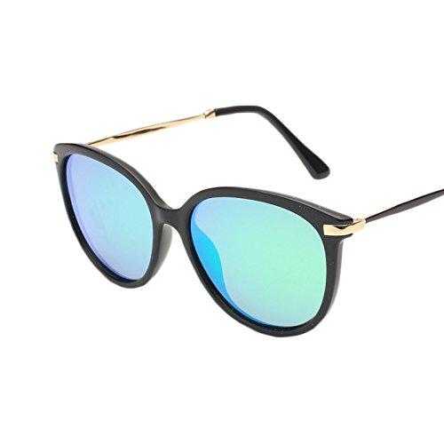 Yiph-Sunglass Sonnenbrillen Mode Vintage Retro runde dünne Art-Sonnenbrille polarisierte UV400 (Farbe : Grün)