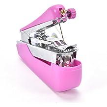 SODIAL Maquina de coser portatil pequena portatil al aire libre Mini maquina de coser manual de mano Maquina de coser para el viaje (colores aleatorios)
