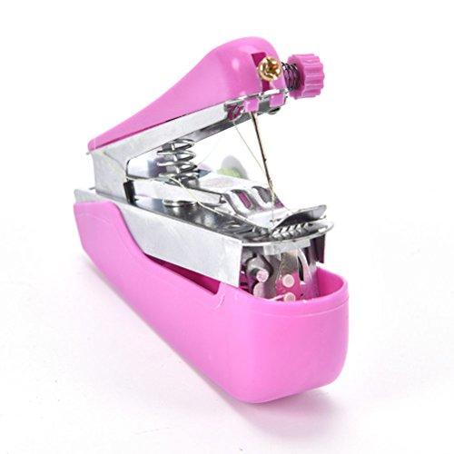 SODIAL Tragbar Naehen im Freien kleine tragbare Mini Hand Hand-Naehmaschine Reise Taschen-Naehmaschine (zufaellige Farben)
