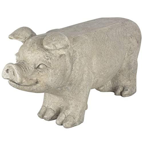 Esschert Design Schweinebank, weiß, 77x23.9x36.5 cm,