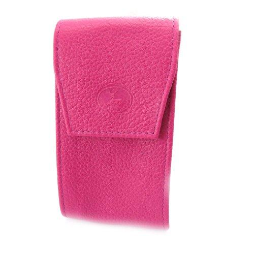 Leder schlüsselanhänger 'Frandi' rosa candy körnig.