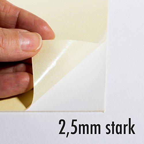 Selbstklebender Karton 2,5mm stark - Rückwand - Trägerkarton - Fixmount - Puzzlekarton - Klebekarton - Kaschierkarton - Bastelkarton - aufziehen - selbstklebende Oberfläche - aufkleben - (DIN A3)