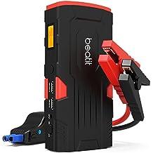 Beatit 800A Peak 18000mAh Arrancador de baterías Arrancador de coche Con cables inteligentes (Motores Gasolina 6.0L o Diesel 5.0L) Batería automática Power Booster Power Pack Banco de energía del teléfono con puertos de carga inteligentes