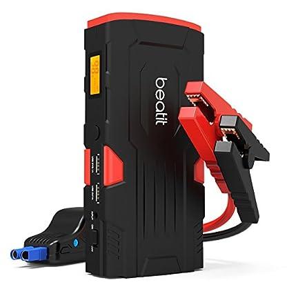 41wmBVo62XL. SS416  - Beatit D11 800 A pico 18000 mAh 12 V arrancador de coche portátil (hasta 7,5 L de gas o 5,5 L diésel) con Smart Jumper Cables Auto batería Booster Power Pack