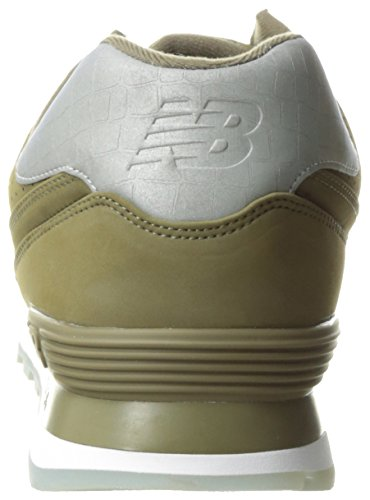 New Balance Mens 574 Classic Traditionnels Synthetic Trainers Triumph Green/Triumph Green