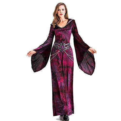 Erwachsene Queen Für Kostüm Spider - BUHUW Halloween Cosplay KostüM Halloween Hexe Verkleiden Sich Banshee Spider Vampire Maxi-Kleid Queen Adult HexenkostüM