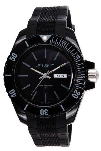 Jet Set–J83491-10Bubble–Unisex Watch–Analogue Quartz–Black Dial–Black Rubber Strap
