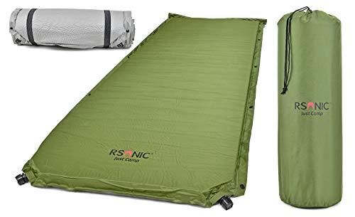 RSonic - TruWare Selbstaufblasende Isomatte XXL Luftmatratze Thermo Luftbett Luftmatte   mit 2 Ventilen - erweiterbar - 180 x 60 x 8 cm