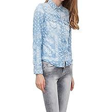 Pepe Jeans - Camisas - Floral - con Botones - Manga Larga - para Mujer Azul