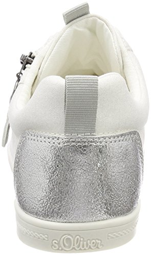 S.oliver 25201, Baskets Basses Pour Femme Blanc (blanc)