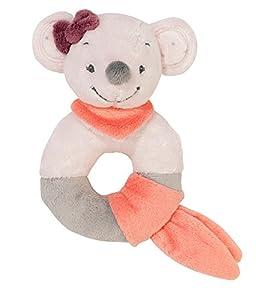 Nattou- Adèle & Valentine NA424172-Alfombras de Juego y gimnasios, Color sonajero de peluche ratona valentine (424172)