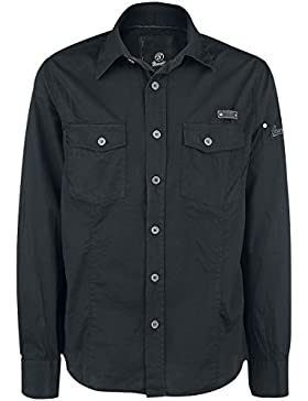 Brandit Uomo SlimFit Camicia Nero taglia 3XL