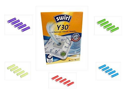 Swirl Staubsaugerbeutel + Gratis 5 Deo Sticks Duftstäbchen für Staubsauger (1er Pack, Typ: Y 30)