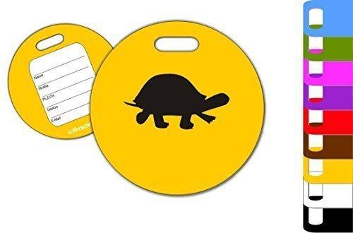 ger Tiere Schildkröte Turtle Kofferanhänger Taschenanhänger, Farbe gelb (Kofferanhänger Gelb)
