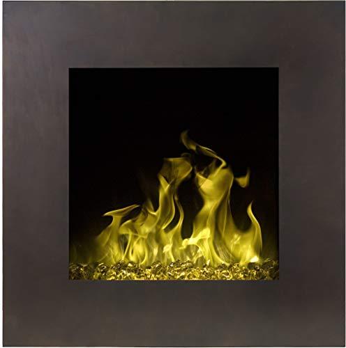 Elektrokamin Fort Bronze Vintage | Wandkamin | Elektrischer Kamin (750 W oder 1500 W) | LED Feuersimulation | Tiefe nur 13 cm