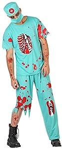 Atosa-39129 Atosa-39129-Disfraz Doctor Sangriento para hombre adulto-talla M-L celeste, color (39129)