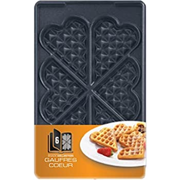 Tefal XA800612 Snack Collection Coffret de Plaque pour Gaufre Coeur avec Livre de Recettes 4,4 x 15,5 x 24,2 cm
