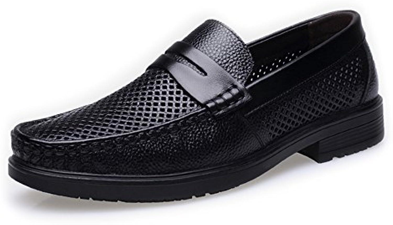 Chaussures Chaussures Chaussures Homme 2018 Classique Hommes Chaussures Véritable Cuir de Vache Perforation Respirant Slip-on Plat Doux... 6fd4a8