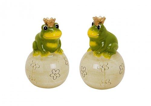 Belladecora Spardose Frosch mit Krone aus Keramik 15cm (Lieferumfang 1 Stück)