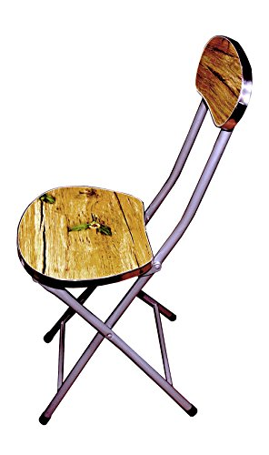 LK Portable Seating Chair Multipurpose Wooden And Iron Folding Chair For Home And Office Use