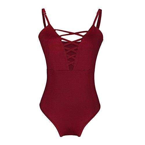 Kinlene Traje de baño para Mujer Traje de baño de una Pieza Push Up Bikini Traje de baño