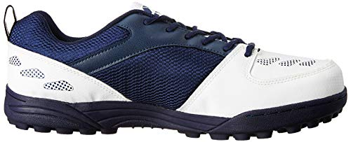 Nivia Caribbean Cricket Shoes, Men's 7 UK (White/Blue)