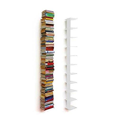 Haseform Bücherturm 170 cm (für 1,80 m Bücher) Weiss Bücherregal Wandregal -