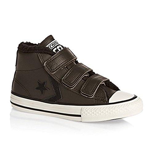 Basket, couleur Marron , marque CONVERSE, modèle Basket CONVERSE STAR PLAYER 3V MID Marron Hot Cocoa/Parchment/Black