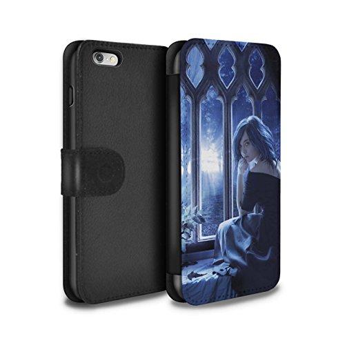 Officiel Elena Dudina Coque/Etui/Housse Cuir PU Case/Cover pour Apple iPhone 6+/Plus 5.5 / Luz Sombra Design / Art Amour Collection Feuilles séchées