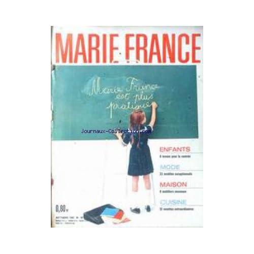 MARIE FRANCE [No 80] du 01/10/1962 - ENFANTS - TENUES DE RENTREE - MAISON - MOBILIERS - 12 RECETTES DE CUISINE.