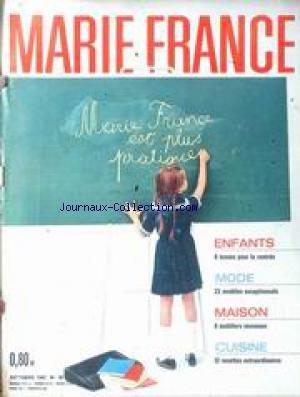 MARIE FRANCE [No 80] du 01/10/1962 - ENFANTS - TENUES DE RENTREE - MAISON - MOBILIERS - 12 RECETTES DE CUISINE. par Collectif