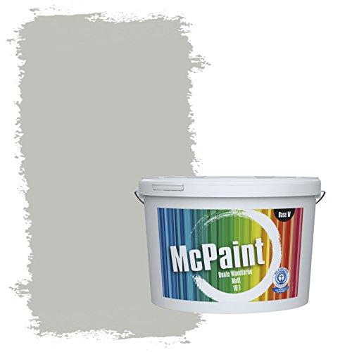 McPaint Bunte Wandfarbe Mondgrau - 10 Liter - Weitere Graue Farbtöne Erhältlich - Weitere Größen Verfügbar