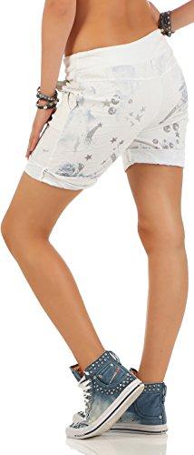 malito Damen Shorts in Jeans Optik   kurze Hose mit Stern Print   Bermuda  für die b160ab6e55