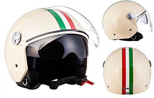 arrow-av-63-italy-creme-chopper-casque-jet-mofa-vespa-scooter-pilot-helmet-moto-retro-vintage-biker-