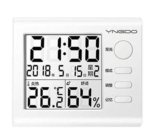 Higrometro Digital Termometro Higrometro Digital Relojes Jardin Hogar Interior De La Habitación Del...
