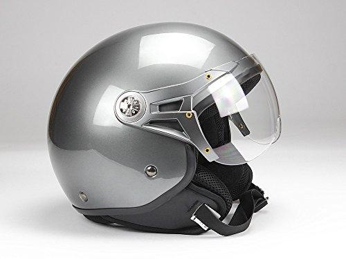 BNO Jethelm Jet100 Motorradhelm Roller Helm Schutzhelm Anthrazit glänzend (XS - XXL) (S)