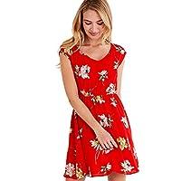 ميلا لندن فستان بودي كون للنساء ، مقاس 8 UK ، احمر ، ML4935