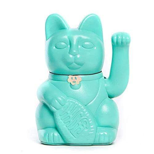 Gatto Fortunato Cinese. Gatto portofortuno. Lucky cat. Maneki Neko. COLORE TURCHIA 10x6x15cm