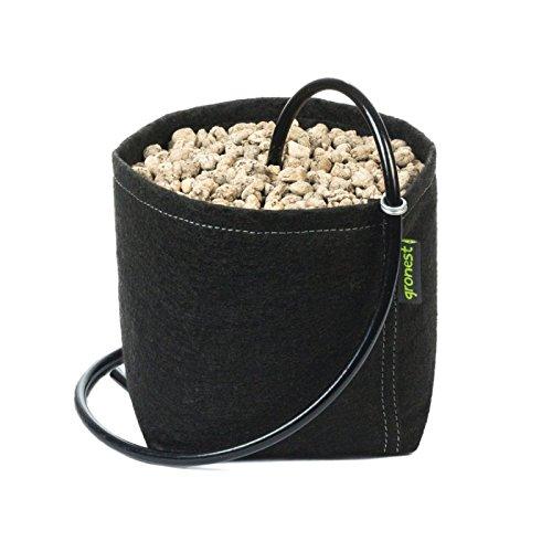 Gronest 1-L 2-L 4-L 8-L 11-L 15-L 19-L 25-L Topf Textil Blumen Stoff Kübel Container Behälter Grow Hydro-kultur Eckig Aussaattopf Saat-topf Pflanzkorb