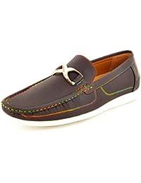 Footwear Sensation - Náuticos de sintético para hombre, color marrón, talla 40.5
